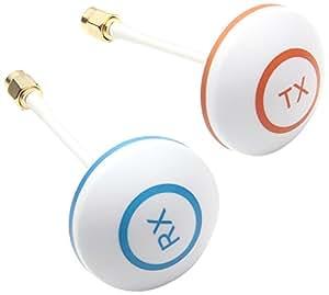 Flug51 FL147 - 5,8 GHz polarisée circulaire jeu de connecteurs Mushroom RX / TX antenne RP-SMA (sans code PIN) pour Multirotor Quadcopter FPV Photographie aérienne