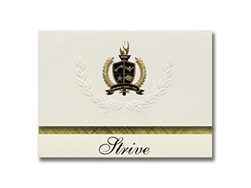 Signature Announcements Strive (West Hartford, CT) Abschlussankündigungen, Präsidential-Stil, Elite-Paket mit 25 goldfarbenen und schwarzen Metallfolien-Versiegelungen -