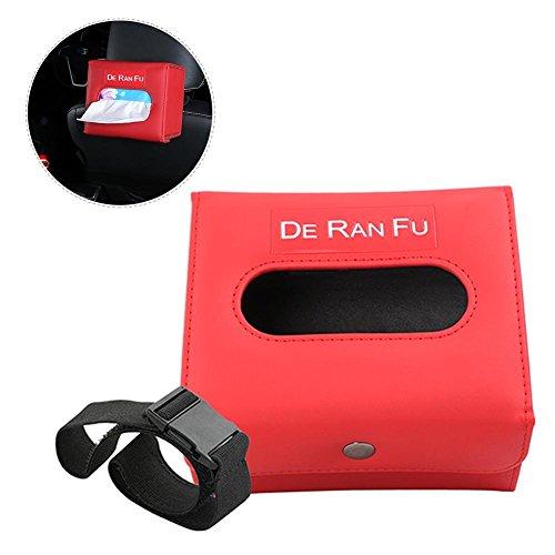 Futurepast Auto Tissue Box Halter Gewebe-Box PU Leder Papier Handtuch Tube Gefaltet Papier Behälter für Auto Sonnenblende und Autositz zurück Druch