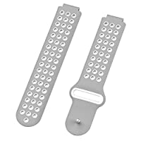 iShine Replacement Band for Garmin Forerunner 220/230/235/630/620/735/645/S20/S60/S50,Adjustable Soft Silicone Band Strap
