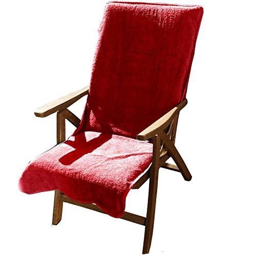 JEMIDI Frottee Schonbezug für Gartenstühle Gartenstuhl 60cm x 130cm Frotteebezug Auflage...