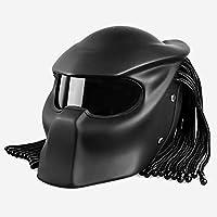 Casco De Moto Predator Motocicleta Montar Casco Personalidad Harley Braid Máscara Casco Offroad Casco Completo Cara