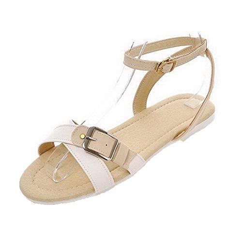 aalardom-womens-buckle-open-toe-low-heels-pu-solid-sandals-apricot-39