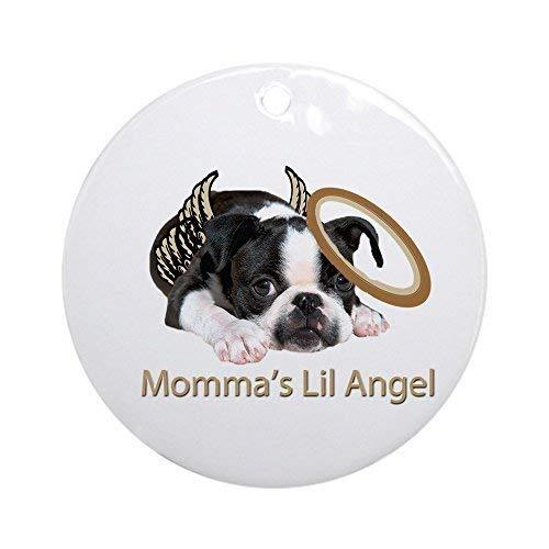 BorisMotley Mommas Lil Angel Boston Terrier Ornament - rund -