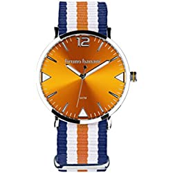 Bruno Banani BR30037Cool Summer Unisex Analogue Air Band Metal 50ATM Blue Blue/White/Orange