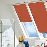 Dekologi Sichtschutzrollo mit Haltekrallen für Braas AF86-55/93 / in der Stofffarbe 168.31 rotorange (lichtdurchlässig), Sonnenschutzsrollo, Maßanfertigung