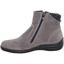 Especial Zapatos Gris Mujer es Amazon Ancho qBxwZI