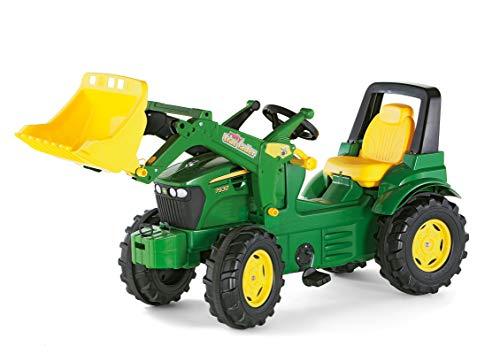 Rolly Toys Trattore a Pedali Johndeere 7930 con Ruspa Trac 710027