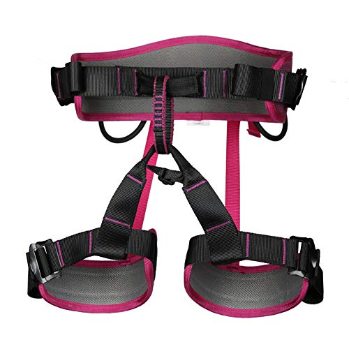 HANG Outdoor-Klettergurt, Luftarbeits-Sicherheitsgurt Sitting Bust Belt-Ausrüstung für Baumpfleger Arborist Rock Climbing - 4 Farben,Pink