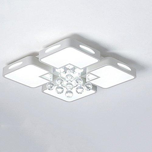 MTTK Acryl Kristall Deckenleuchte 36 Watt LED energiesparende Kronleuchter im europäischen Stil dekorative Licht 50 * 50 * 8 cm - Chandler Chandler Platz