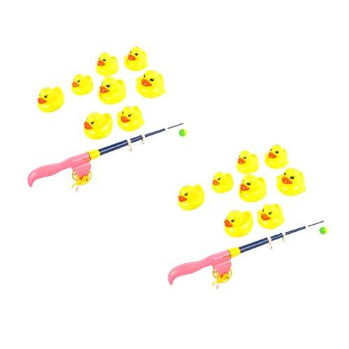 KESOTO 18-teilig Magnetische Enten Tiermodell Angelnspiel Wasserspielzeug, Kinder Angeln Rollenspiel Spiel Set