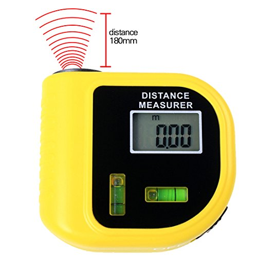 Preisvergleich Produktbild A-SZCXTOP Mini 18M / 60FT Ultraschall-Distanzmessung Laser-Punkt-Messgerät mit 2-stufigem Bubbles Genaue Mess-Füße oder Messgeräte Entfernungsmesser für Elektriker, Bauunternehmer, Freimaurer, Umbauer, Maler, Architekten, Inspektoren, Baumeister