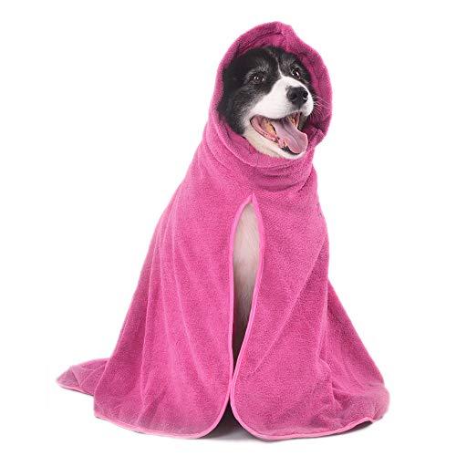 Winthome Albornoz de Baño Super Absorbente para Perro Secado Microfibra