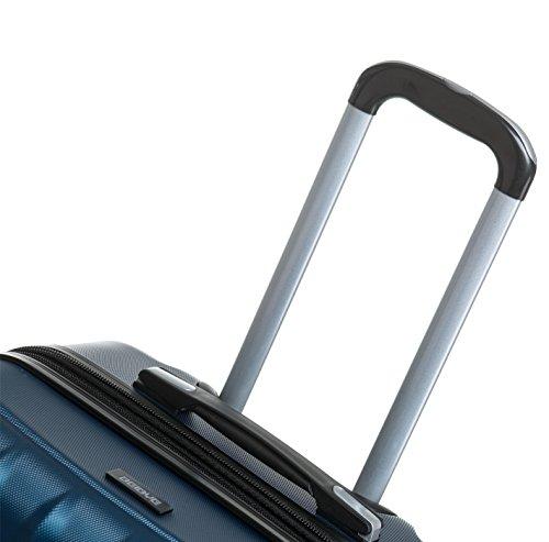 TSA-Schloß 2080 Hangepäck Zwillingsrollen neu Reisekoffer Koffer Trolley Hartschale XL-L-M(Boardcase) in 12 Farben (Blau, Set) - 6