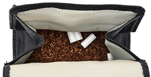 """Portatabacco Gusti Leder studio """"Lutz"""" porta sigarette cartine accendino vera pelle vintage classico naturale nero 2T17-22-5"""