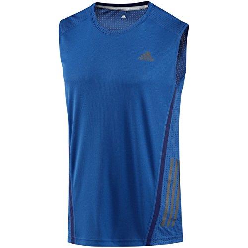 adidas SUPERNOVA SL TEE Herren Laufshirt Farbe: Blau; Größe: S (3-streifen Adidas Ärmelloses)