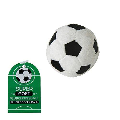 Plüsch-Fussball Deutschland schwarz/weiß soft Ø 8 cm Fussball Party Fan-Artikel Deutschland (Plüsch-Fussball Ø 8 cm) (Fußball Plüsch)