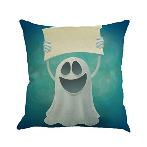 Halloween Dekorationen Halloween Kissenbezug Dekokissen Cover Dekorative Kissenbezug Clever Ghost Schöne Bild Flachs Cover Für Sofa Stuhl Verwendung (D) von Ballylyly