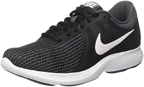 Nike wmns revolution 4 eu, scarpe da running donna, nero (black/white/anthracite 001), 37.5 eu
