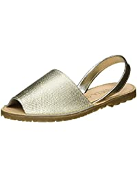 Xti Gold Metallic Ladies Shoes ., Sandales Compensées femme