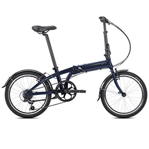 Tern Faltrad Link A7 Fahrrad 7 Gang 20 Zoll Alu Kettenschaltung Shimano Ständer Schutzblech Bike, CB19PVAO07TM0, Farbe Dunkelblau