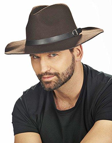 Abenteurer Hut in Theaterqualität für Herren zum Kostüm Cowboy Western - Braun