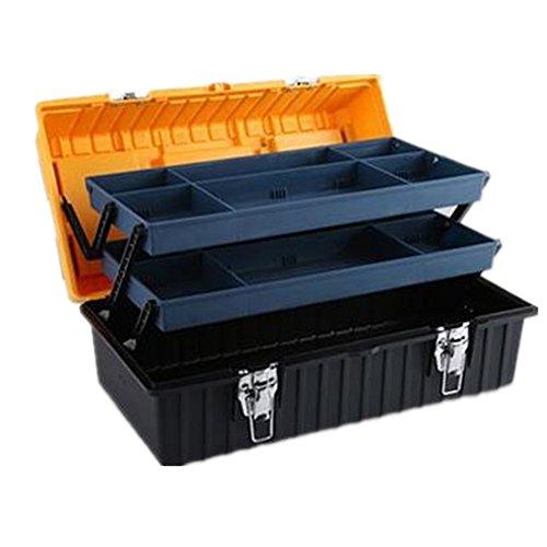 TOOL Boxes | tragbar Werkzeug Aufbewahrungsbox Set drei Schicht 43,2cm 53,3cm DIY Tragetasche herausnehmbares Organizer Tablett, braun (21 Schubladen Tool Box)