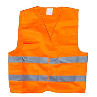 Ansen Tools AN-192 High Visibility Neon Safety Vest with Reflective Strips, X-Large, Orange