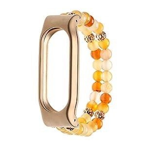 Wawer Damen Armband für Mi Band 2, Mode Schmuck Dekorative Uhrenarmband Ersatz Bügel für Xiaomi Mi Band 2