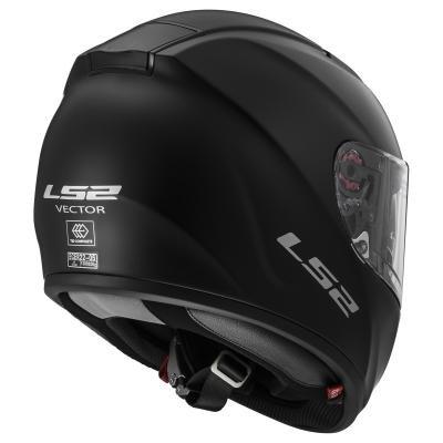 LS2 103971011XL FF397 Casco Vector Solid, Color Negro Mate, Tamaño XL