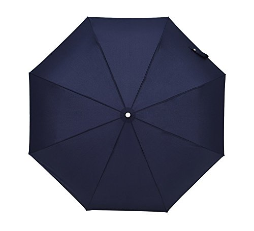 Leichte kompakte automatische Reise Regenschirm dreifacher Regenschirm Männer Business Regenschirm windundurchlässiger Sonnenschirm automatisch EIN- / ausschalten - blau - Sie Unten Nach Edelstahl Biegen