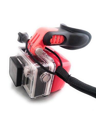 Accesorios Gopro perfectos para navegar por vídeo y fotos.    Este soporte de boquilla para surf (con cordón flotante, para el cuello) para todos los modelos GoPro Hero, Session y otras cámaras de acción te permitirán compartir tu cañón (o onda re...