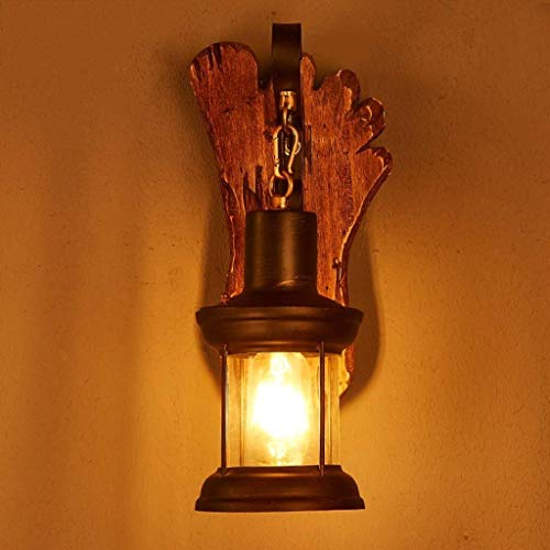 OUNA Neue Art-Wand Gilt Einzelkopf-Retro Weinlese-hölzerne industrielle Farbe-Metallfarbe-Wandlampe für Das Haus/Hotel / Korridor verzieren Wandleuchte mit Hauptgebrauch