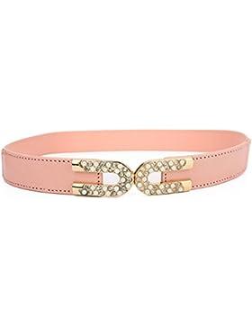 Cintura Moderna/Versión Coreana De Perlas Adornan La Correa/Vestido Con Cintura Elástica