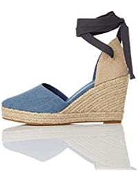 find. - Wedge Close Toe Canvas Espadrille, Sandali a punta chiusa Donna