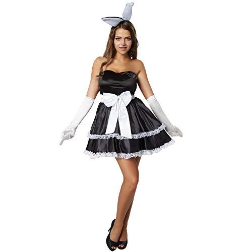 dressforfun 900478 - Damenkostüm Hot Bunny, Figurbetontes und trägerloses Kleid im Rockabilly Style (XL | Nr. 302133)