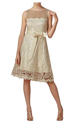 Toscana sposa elegante fiocco stanotte vestimento Kurz punta tulle sposa Cocktail Party Ball un'altezza tempo vestimento Champagne