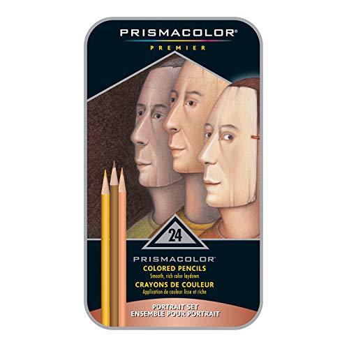 Sanford Prismacolor Premier Boîte de 24Crayons de Couleur pour Portraits