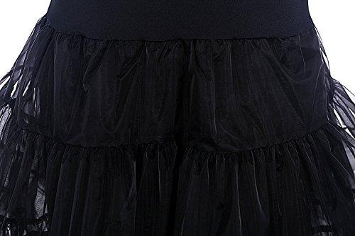 Bridal_Mall Damen 50s Vintage Petticoat für Abendkleider Promkleid Unterrock Elfenbei