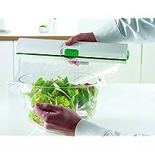 Emsa Click & Cut Portarotoli, Alluminio, Bianco/Verde