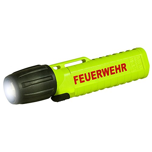 feuerwehr handlampe UK Lights Helmlampe 4AA eLED Zoom, mit Aufdruck Feuerwehr, S/Frontschalter, neongelb 14541F
