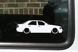 Abgesenkt Auto Silhouette Aufkleber-für Mercedes C-Klasse W202