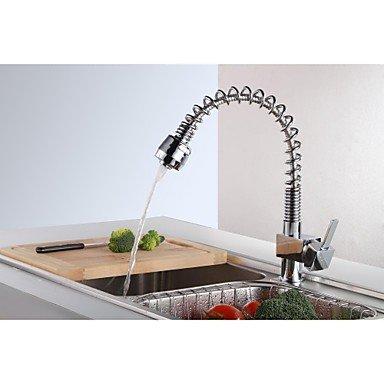 Küchenarmaturen Küchenarmatur Zeitgenössisch Mit ausziehbarer Brause Messing Chrom -