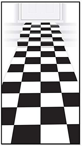 Beistle Karo Läufer schwarz/weiß