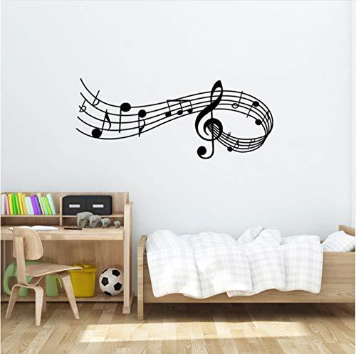 tes Melody Wandtattoo Schlafzimmer Büro Weihnachten Musical Wand Tür Fenster Aufkleber Dekor ()
