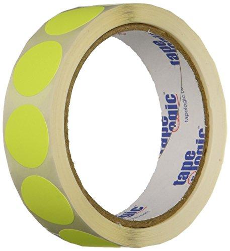 Generic dl611l inventario círculo etiquetas, 1cm de diámetro, color amarillo fluorescente