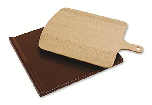 Beko 4480100033 Backofen- und Herdzubehör/Pizzastein/zum perfekten Backen von Pizza, Brot und Gebäck/beige/braun Beige-brot