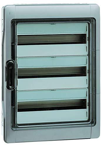 Legrand 601983 - Cassetta di distribuzione a parete, IP65 IK09, a 3 file, 36TE, 622 x 340 x 161 mm