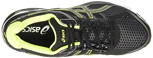 Asics Gel-Pulse 7, Chaussures de Running Compétition Homme Noir (black/flash yellow/silver 9007)
