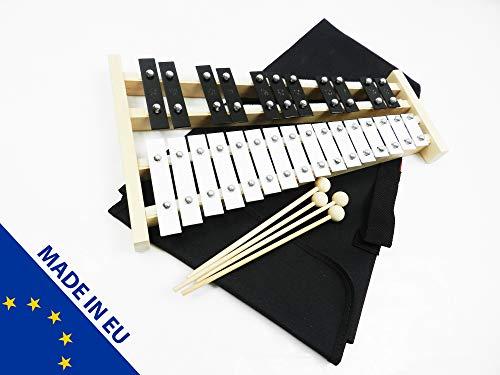Metallofono professionale in legno libera di molti colori + Two martelletto in legno-ideale per bambini, Nero